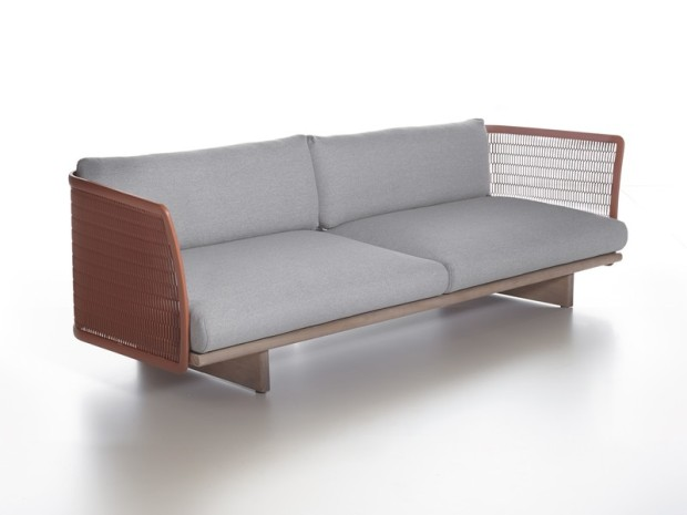 Kettal-Mesh-Three-Seater-Sofa-Red
