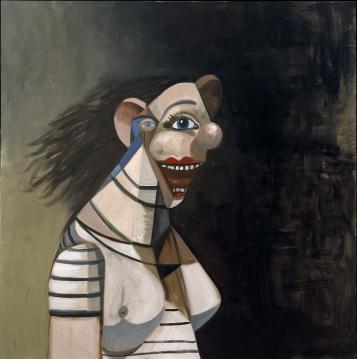 George-Condo-Smiling-Female-2008-image-via-Galerie-Catherine-Houard