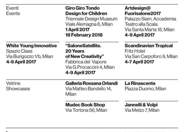 BOSA SALONE DEL MOBILE 2017 list