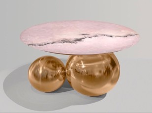 NOMAD MONACO Pink jade coffee table by Studio MVW featured in the Galerie BSL