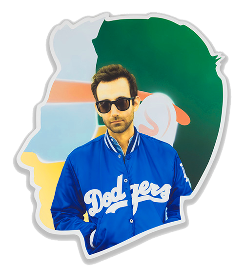 Alex Israel, Self Portrait (Dodgers), 2014‒2015 Photo Joshua White